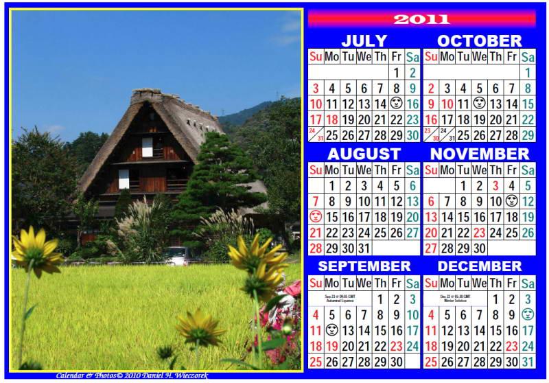 photo calendar usa