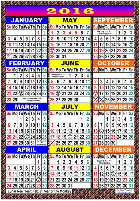 Usa 2016 Printable Holiday Calendar 2016 Usa Calendar Usa Calendar ...
