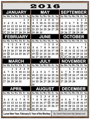 2016 USA, Japanese & International Calendars - PDF, Kindle and Print ...