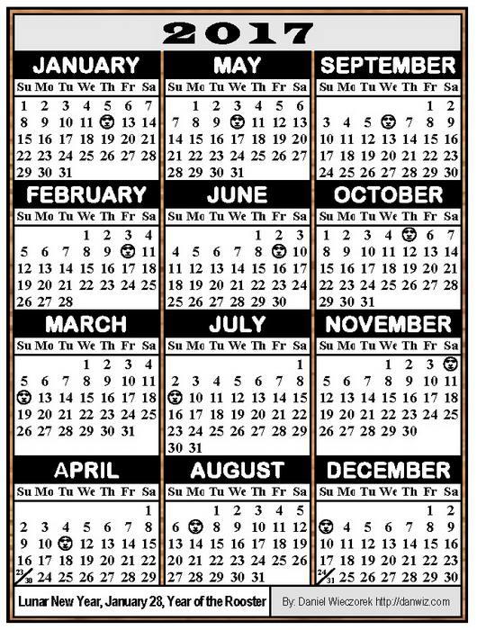 2017 Usa Japanese International Calendars Pdf Kindle And Print