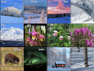 2019 Calendar - Alaska Outdoor Photos - The Photos
