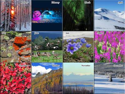 2020 Alaska Outdoor Photos Calendar - The Photos