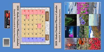 2020 Alaska Outdoor Photos Calendar - The Entire Cover