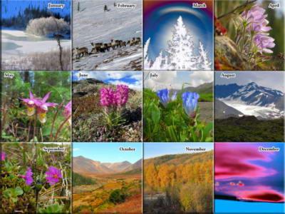 2022 Alaska Outdoor Photos Calendar - The Photos