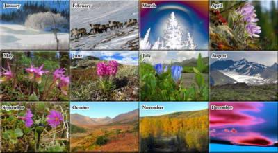 2022 Alaska Outdoor Photos Calendar Book - The Photos
