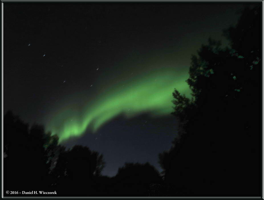 Aurora and Big Bear - Aurora Borealis and the Big Dipper