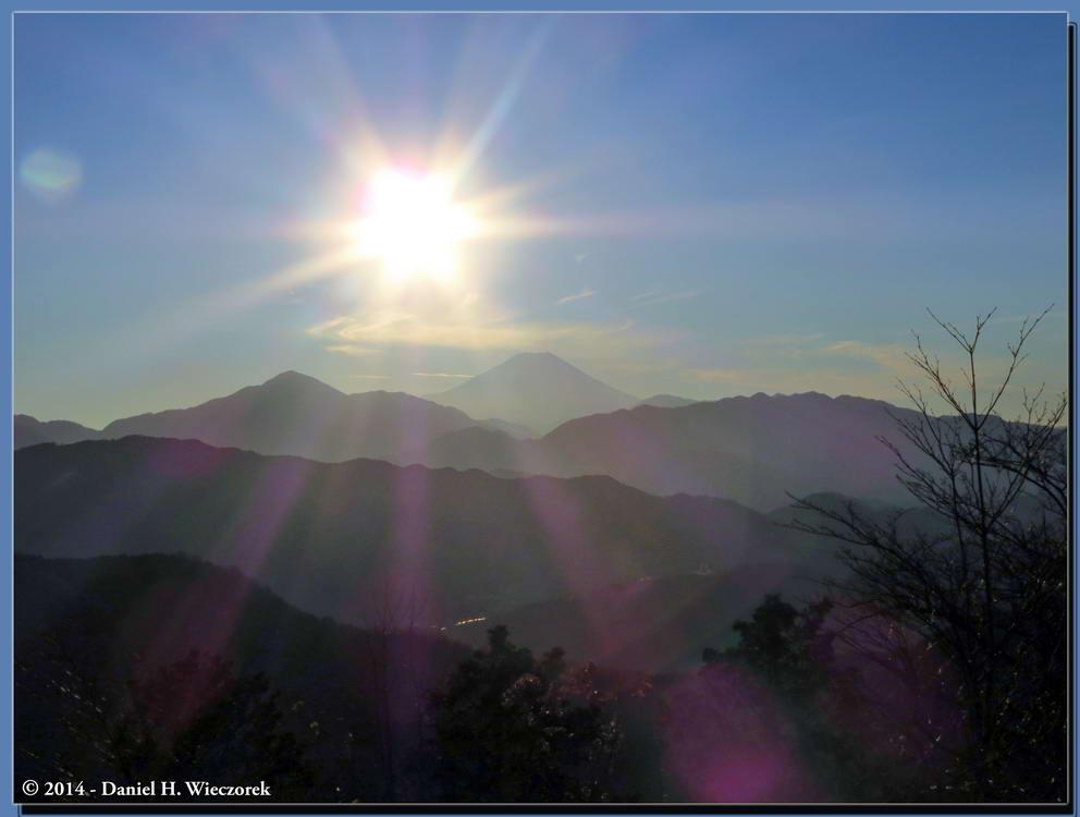 Waiting for Diamond Fuji at the Summit of Mt. Takao