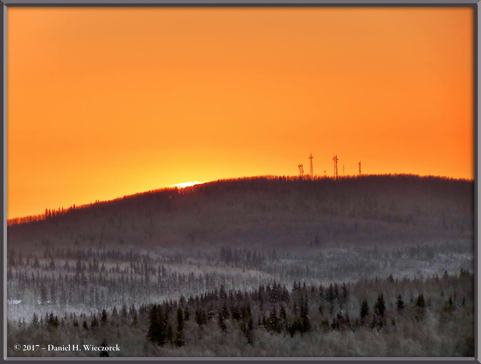 Sunset Over Birch Hill - Fairbanks, Alaska, February 6th, 2017, 4:43 PM