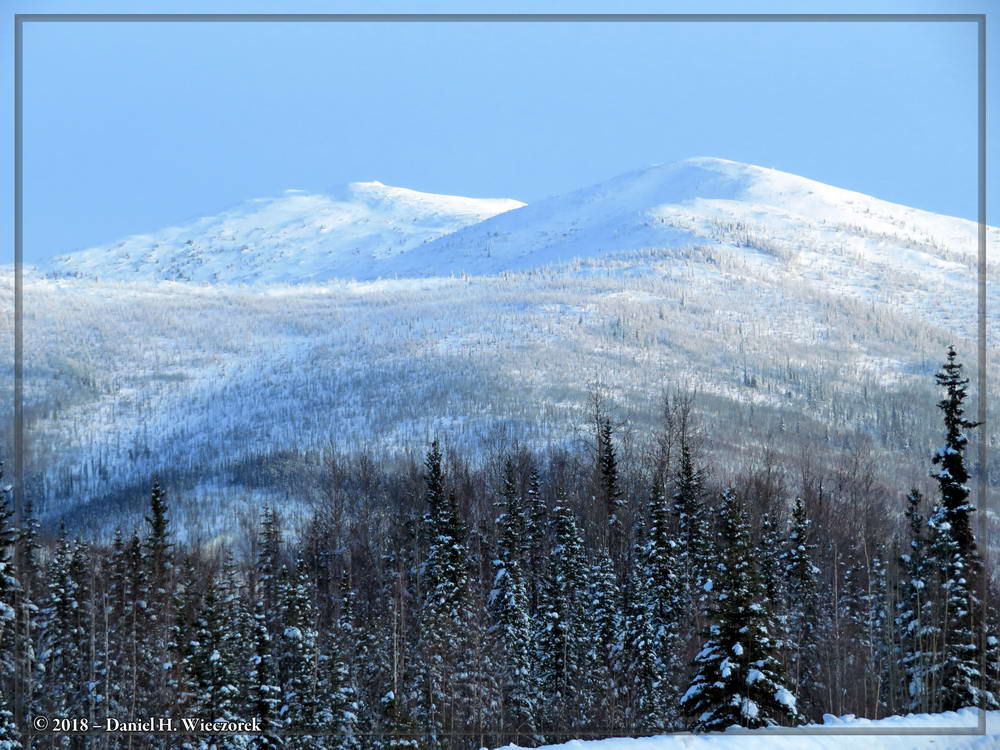 Snow Covered Mountains Along Chena Hot Springs Road