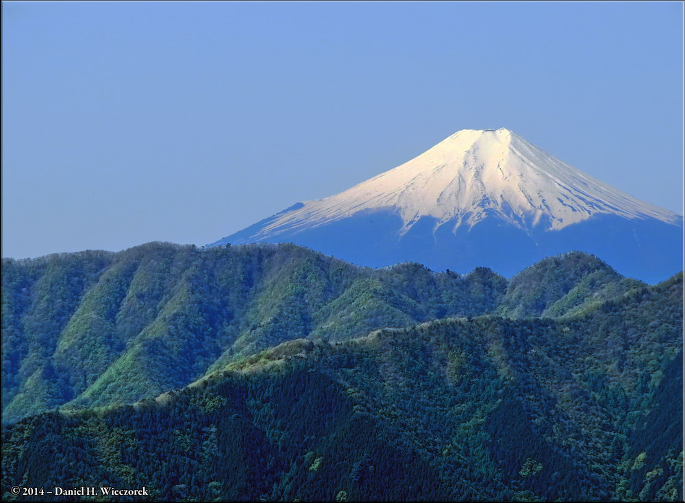 Mt. Fuji & Spring Greenery - Heavily Manipulated Mt. Fuji Photo. May 10th, 9:06 AM