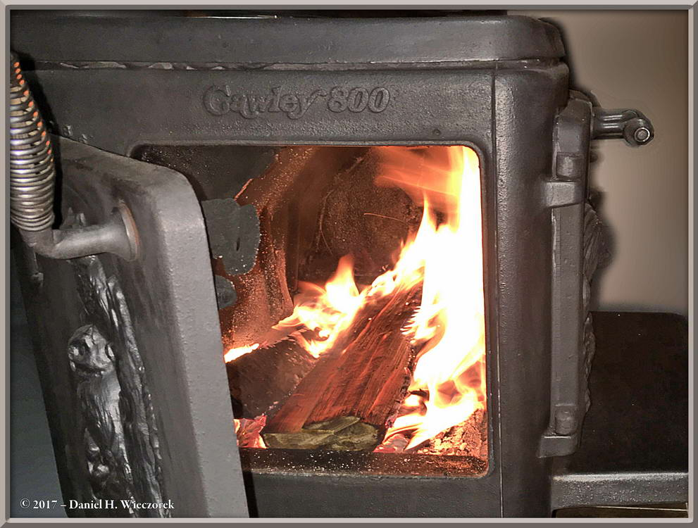 A Roaring Fire In our Woodstove