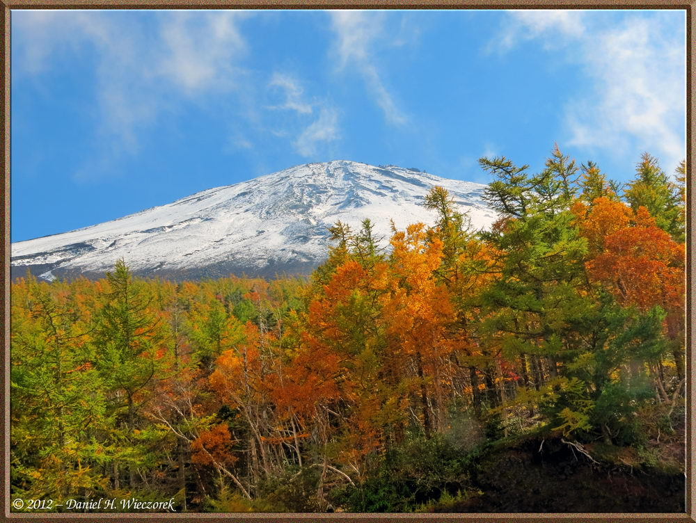 Mt. Fuji / Fall Colors - a Tone-Mapped image created from 3 exposure-bracketed photos
