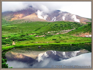 Amazing Reflection of Mt. Asahidake in a Pond, Aug 2009