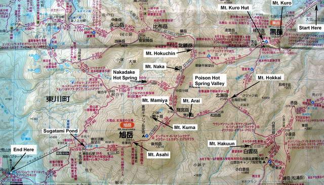 Daisetsuzan Map