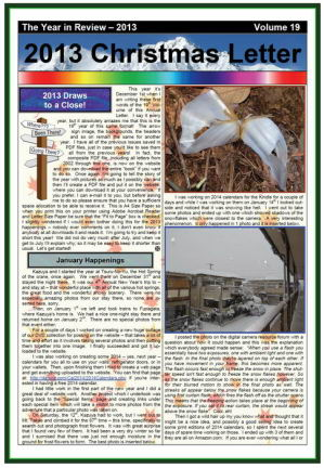 The 2013 Christmas Newsletter