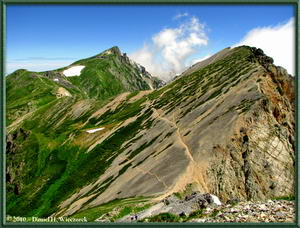 Japan's Northern Alps Mountains - Scenery from near Mt. Yarigatake