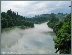 Tadami River Area - River Scenery After Thunderstorm (570 KB JPG File)